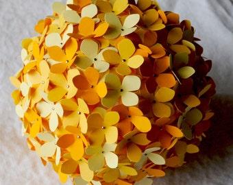 SALE: Paper Hydrangea - 5.5 inch Orb in yellow
