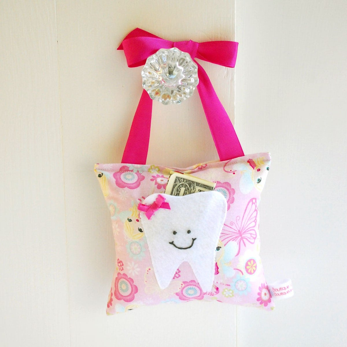 Girls Fairy Princess Tooth Fairy Pillow by ToothFairyPillowShop