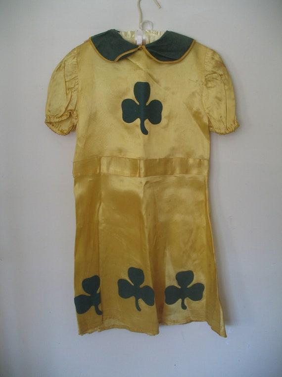 1950's Girl's Halloween Costume-Irish Girl-Clover
