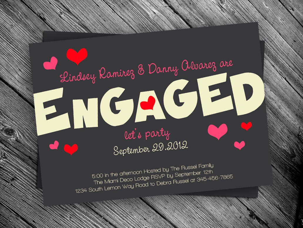 Engagement Party Printable Invitation