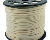 Faux Suede  Cord Lace Leather Cord Flat Pale Goldenrod  3x1.5mm-20ft