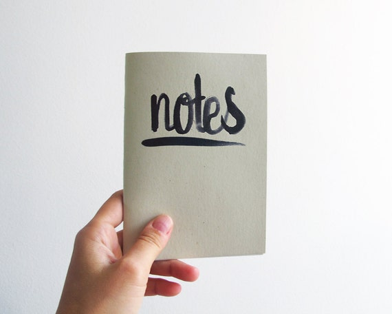 Notes - black - A6 notebook