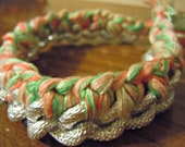 Mint and Coral Braided Chain Bracelet - The Lindsay