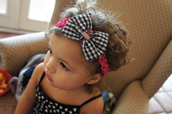Olivia Paige - Little Pin up cupcake infant/toddler headband