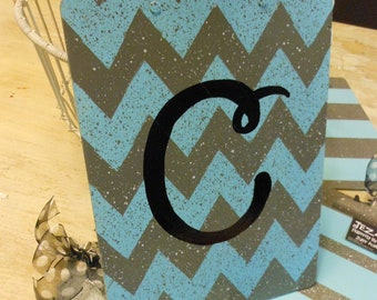 Custom Handpainted Chevron Pattern on back New Teacher Clipboard with Ribbon