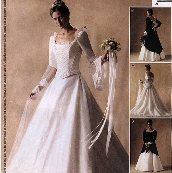 McCall's 3449 by Alicyn Exclusives Misses' Renaissance Bridal Gowns and Bridesmaids Dress Sewing Pattern - Uncut - Size 12, 14, 16