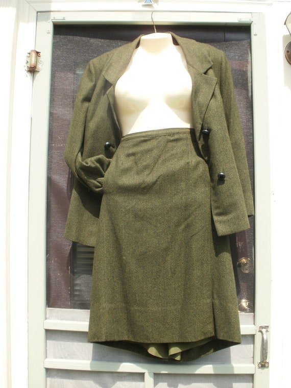 Vintage Cashmere Secretary Suit Size 14- 16 ON Sale now