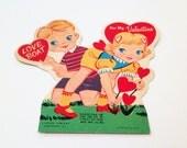 50s Valentine's Day Lollipop Card Holder