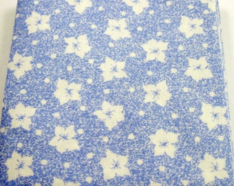 Spring Blossoms in Blue 6536   40 - 4 inch Fabric Quilt  Squares