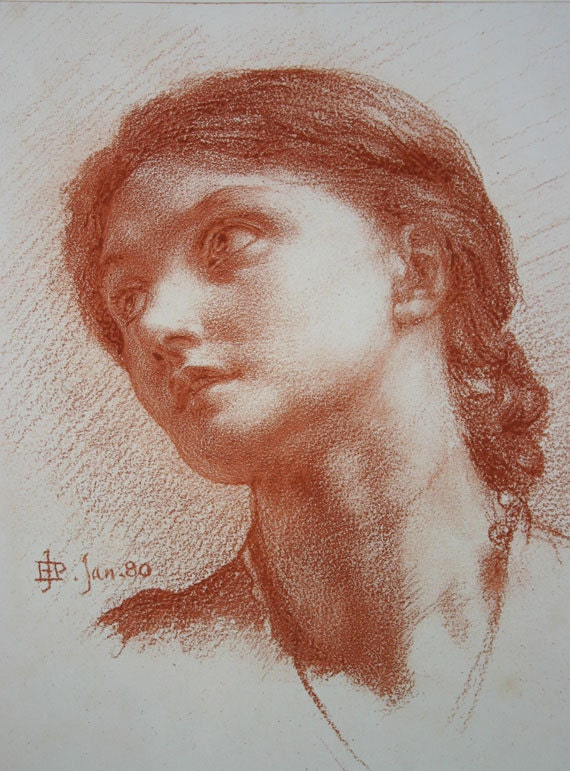 Terracotta Drawing of a Woman's Head 1881