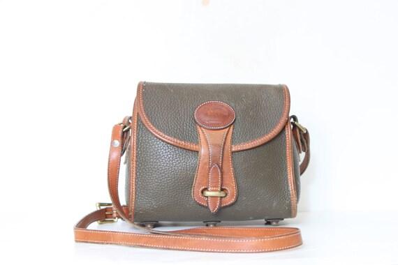 Dooney and Bourke  Oxbrown Vintage All Weather Leather Handbag Satchel