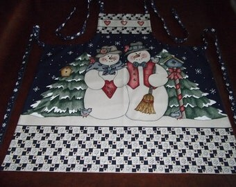 Christmas Apron - Mr. and Mrs. Snow