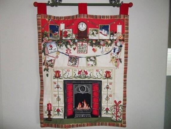 Christmas Advent Calendar - Decorated Hearth