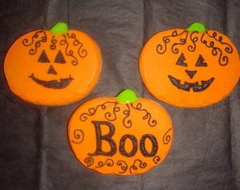 1 DZ Halloween Pumpkin Sugar Cookies