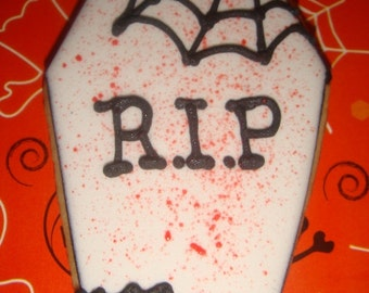 1 DZ Halloween Coffin Sugar Cookies
