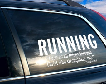 marathon mom, running bumper sticker