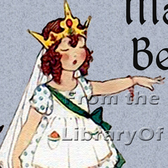 Queen Of The Nursery- STICKERS - A Vintage Fancy Nancy - Personalized Vintage Bookplate