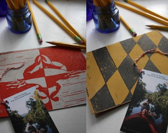 """5 pack of Maryland State flag hand printed blank cards with envelopes """"party pack"""" stationery set"""