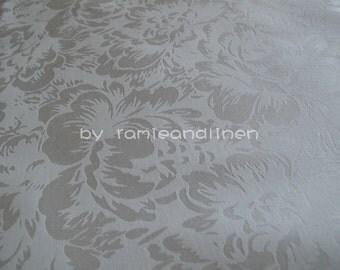 "silk fabric, floral jacquard weaved silk cotton blend fabric, wedding dress fabric, half yard by 44"" wide"