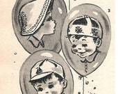 Vintage 1950s Hat Patterns Summer Children Toddlers Babies Sewing E-version