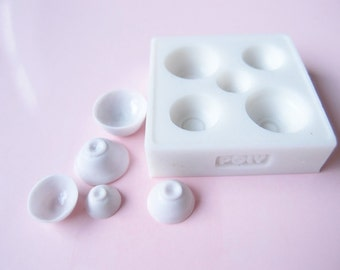 Silicone Flexible Bowl Mold for Dollhouse Miniature
