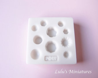 Silicone Flexible Pudding Dome Jelly Mold for Dollhouse Miniature