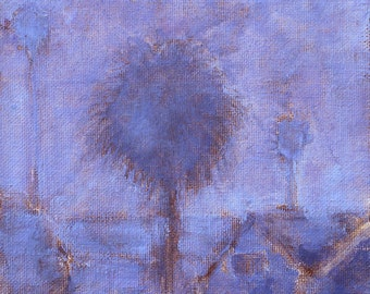 San Diego Fog Palms - California Landscape Painting