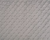 Silver Cuddle Dimple Dot Minky by Shannon Fabrics, 1 yard