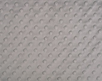 "Silver Cuddle Dimple Dot Minky by Shannon Fabrics, Fat Half (30"" x 36"")"