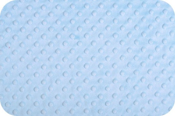 Baby Blue Cuddle Dimple Dot Minky by Shannon Fabrics, 1 yard