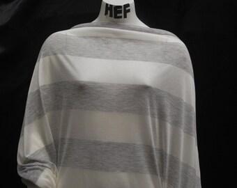 Tencel Recycled Polyester Knit Jersey Yarn Dyed Fabric Ecofriendly Stripes 5 oz