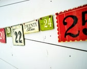 Countdown to Christmas garland- 2012 version