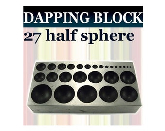 27 half spheres Flat Dapping Doming Block  - DB9830A