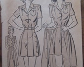 Adorable 1940s WWII 40s summer playsuit Advance 3023 pattern sz 12