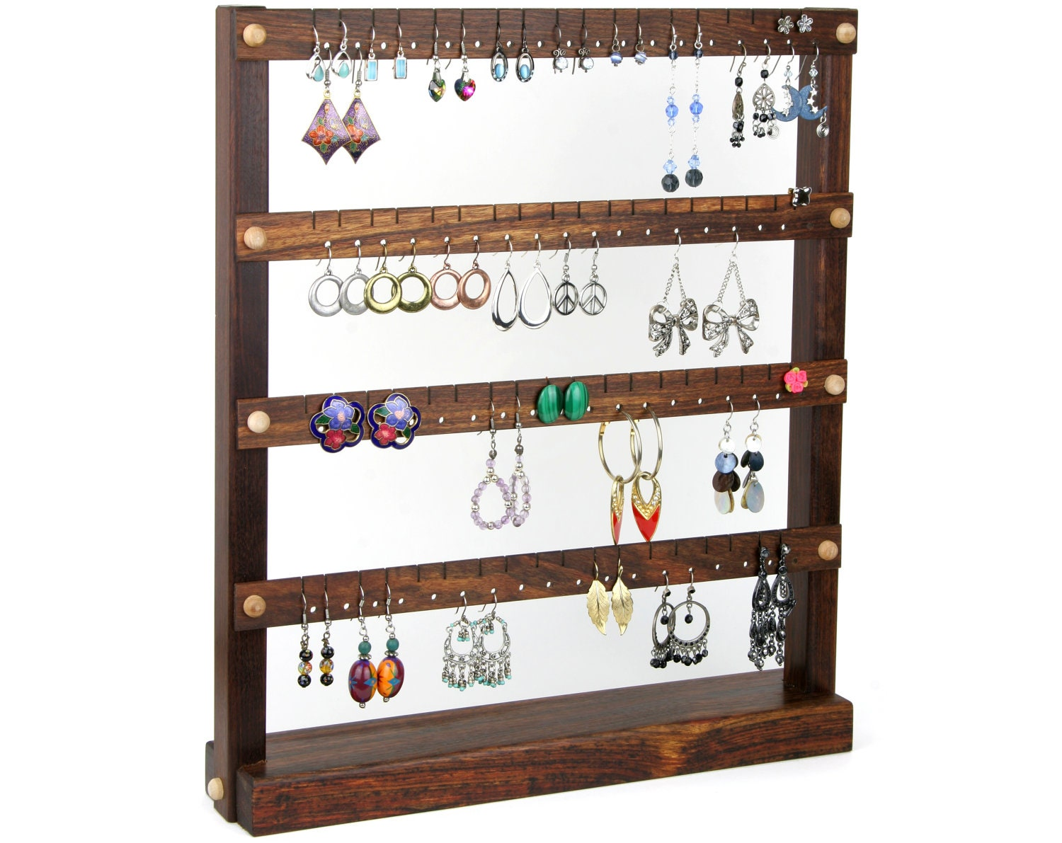 caribbean rosewood jewelry holder earring display stand. Black Bedroom Furniture Sets. Home Design Ideas