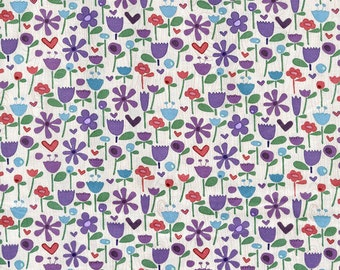 Heidi Grace - Flower Garden - Cotton Fabric - 32 inches