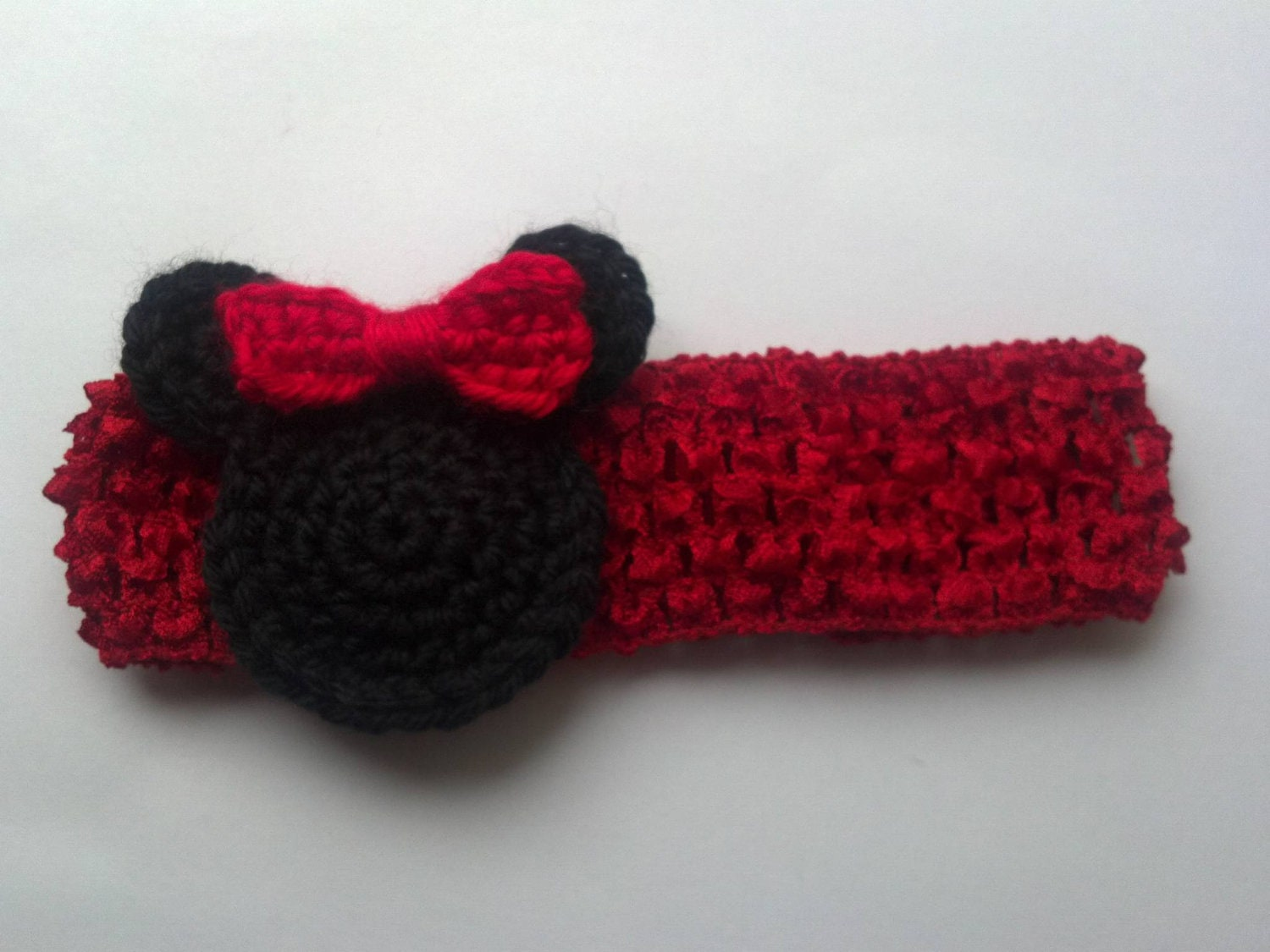 Minnie Mouse Crocheted Headband Mickey Mouse For New Born