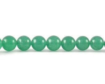 AA Aventurine 8mm Smooth Round Beads - Full Strand