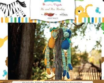 Riley Blake Mr. & Mrs. Monkey Kits-  1 kit to make both Monkeys. Zoofari fabric