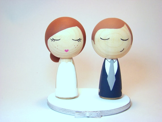 kokeshi doll wedding cake toppers items similar to custom mini kokeshi doll wedding cake 16655