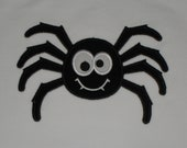 Spider Applique on a Long or Short Sleeve White boutique TShirt Girl/Boy