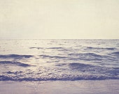 Beach Photo: Lady Grey Fine Art Photography Vintage inspired art Ocean Seascape Nature Photography, Blue Purple Water, Waves