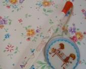 Lovely Fan , Little dream Mascot Pencil.80s.n2