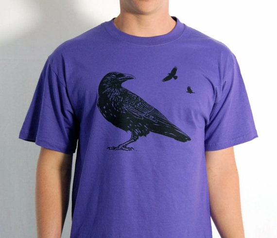 50% OFF S Purple Bird Shirt with Crow