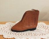 Vintage Leather Shoe Coin Purse