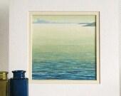 Original acrylic seascape ocean waves painting - Across the Bay