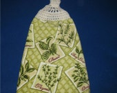 Hanging towel with garden herbs