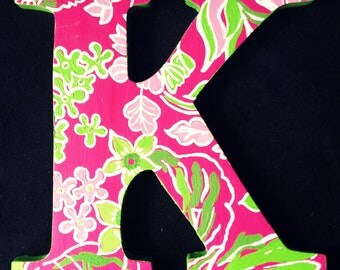 Lilly Pulitzer Inspired Letters Hotty Pink First Impression