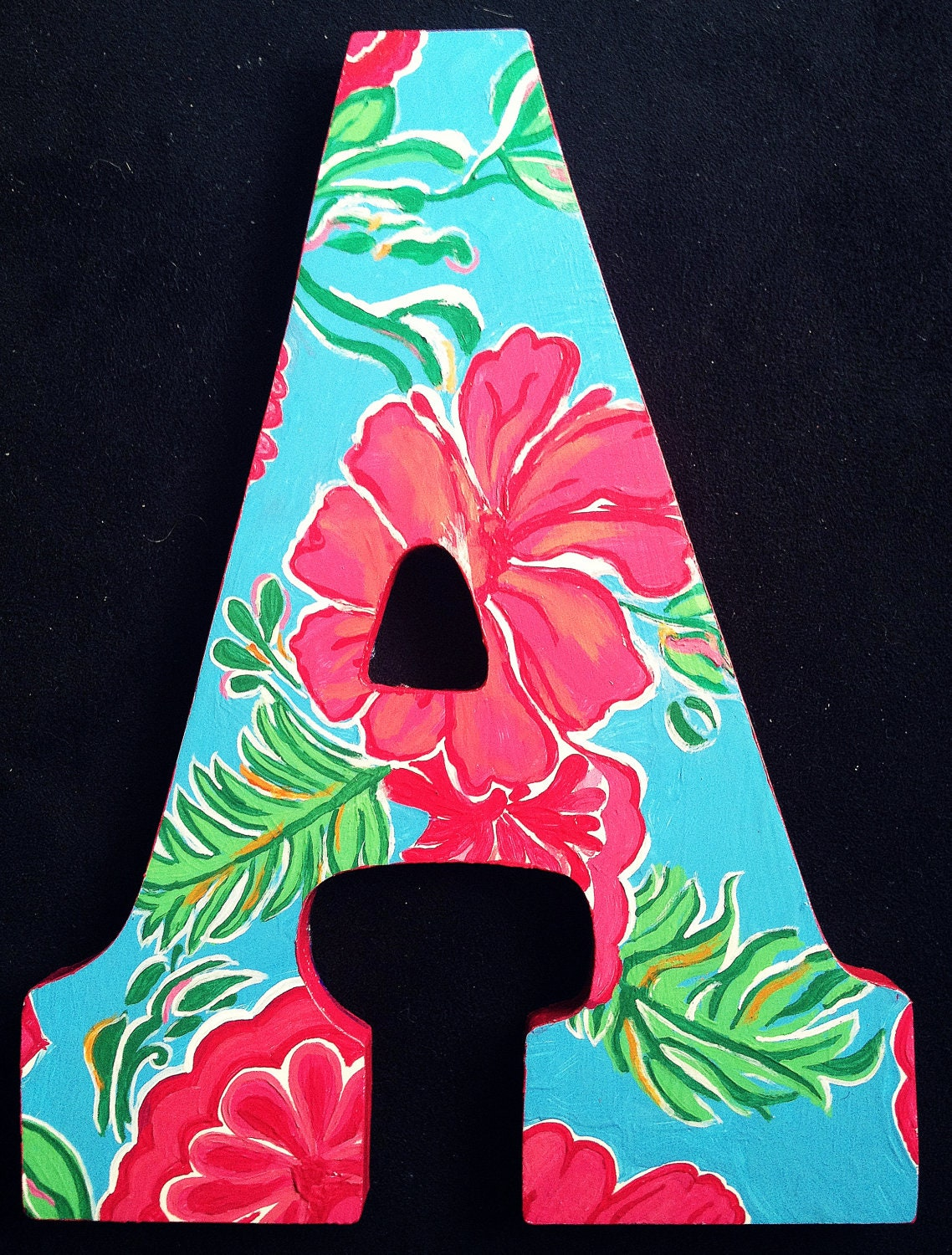 Lilly pulitzer inspired letters bellina print for Lilly pulitzer sorority letters