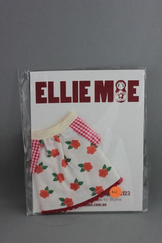SALE Blythe Smock Style Dress - Blythe Con 2012 Red Roses